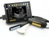 práctico dispositivo de ultrasonido con gafas para el examen de vacas, cerdos y ovejas. Dispositivo de ultrasonio destinado a los veterinarios que trabajan en el terreno