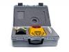 portable blau-gelbe tasche, spender mit feuchtigkeitsmesser gmmpro, bedienungungsanleitung und Alkali-Mangan-Batterie vom Typ  6LF-22, 9V