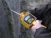 HMM with a probe permanently fixed to the electronic past enables performing measurements in strongly pressed material.