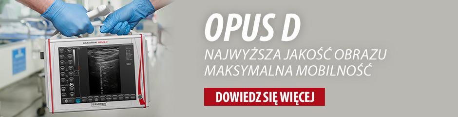 DRAMIŃSKI OPUS D - przenośny ultrasonograf o znakomitych parametrach obrazu z funkcjami doplerowskimi