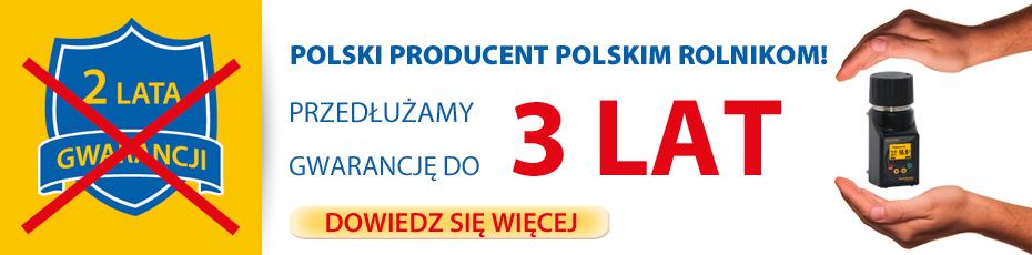 Polski producent w związku z trudną sytuacją polskich rolników spowodowaną suszą wydłuża gwarancje na wszystkie swoje wilgotnościomierze z 2 do 3 lat