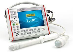 DRAMINSKI FAST przenośny, ekstremalnie wytrzymały ultrasonograf dla mobilnych lekarzy. Do szybkiej diagnostyki narządów jamy brzusznej i miednicy