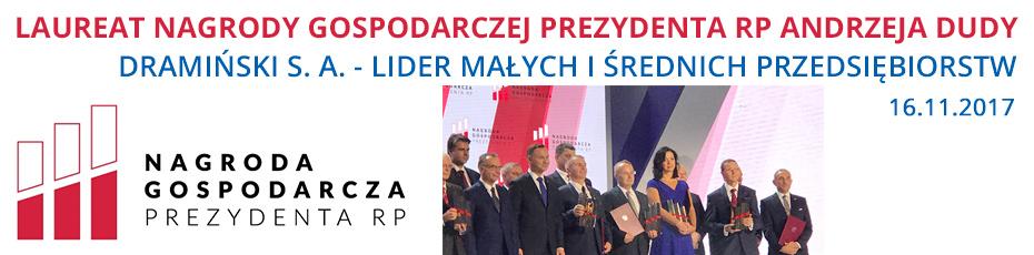 draminski, nagroda gospodarcza prezydenta RP, ultrasonografy weterynaryjne, lider małych i średnich przedsiębiorstw