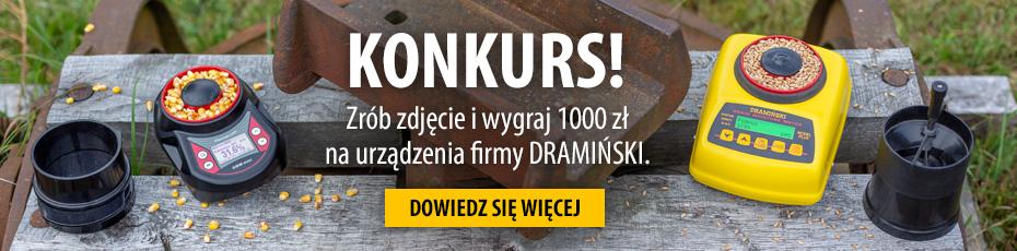 Weź udział w konkursie i wygraj 1000 zł na urządzenia firmy Dramiński
