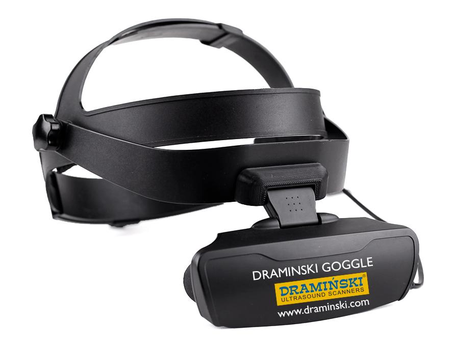 przenośny ultrasonograf z goglami, lekkie gogle, okulary ultrasonograficzne, gogle do usg, LCD gogle
