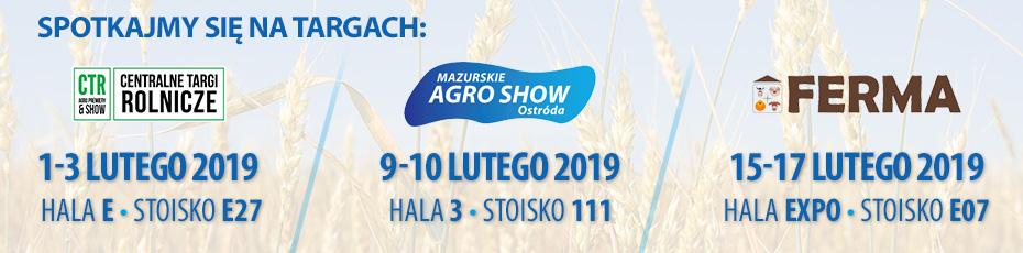 Spotkajmy się na targach rolniczych w Lutym 2019