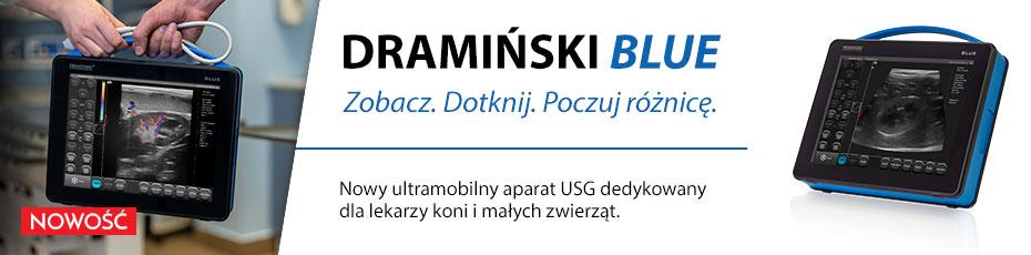 Nowy przenośny aparat USG Dramiński Blue