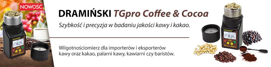 Precyzyjny wilgotnościomierz do kawy i kakao ze ściskaniem próbki.