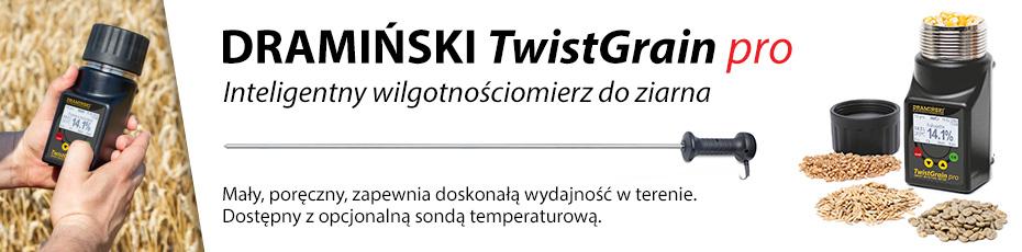 Nowy, kieszonkowy wilgotnościomierz do ziarna DRAMIŃSKI TwistGrain Pro