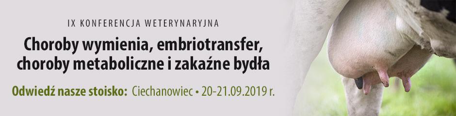 Zapraszamy na nasze stoisko na Konferencji Weterynaryjnej w Ciechanowcu