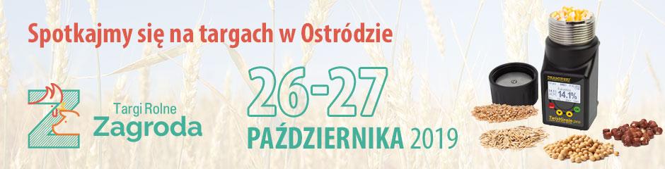 Zapraszamy na Targi Zagroda w Ostródzie gdzie zaprezentujemy wilgotnościomierze do ziarna