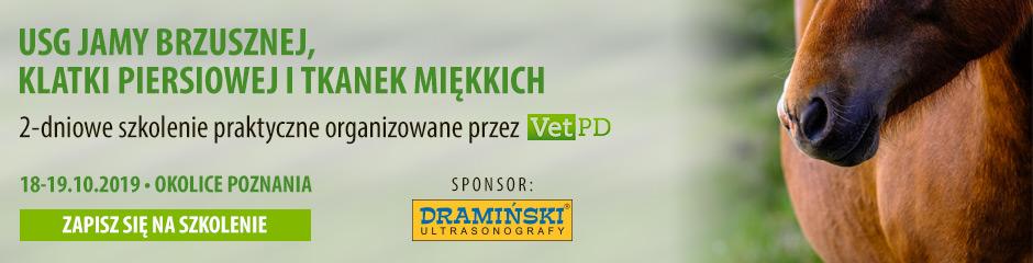 Dramiński S.A. sponsorem szkolenia weterynaryjnego USG jamy brzusznej, klatki piersiowej i tkanek miękkich