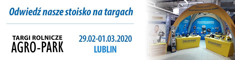 Firma Dramiński zaprezentuje swoje wilgotnościomierze podczas targów Agro-Park Lublin