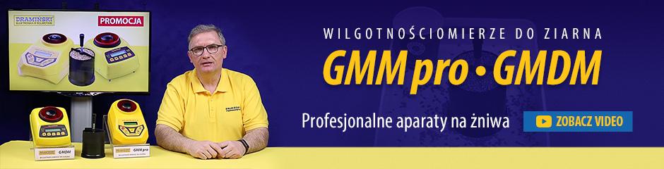 Profesjonalne najdokładniejsze wilgotnościomierze do ziarna Dramiński GMM pro i GMDM polecane na żniwa