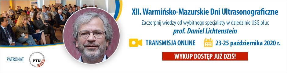 Transmisja online z XII Warmińsko-Mazurskich Dni Ultrasonograficznych z prof. Danielem Lichtensteinem