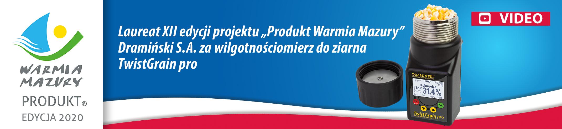 polski produkt Warmia i Mazury - Wilgotnościomierz Dramiński TwistGrain pro